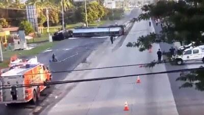 Fuel Tanker Flipped near Coronado